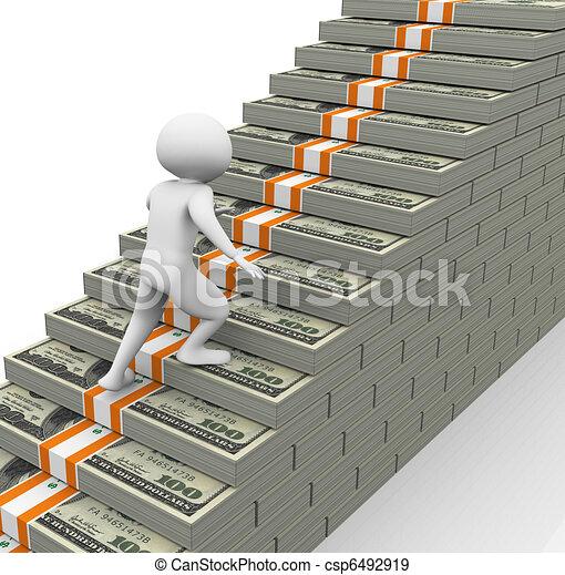 concepto, crecimiento, ganancias - csp6492919