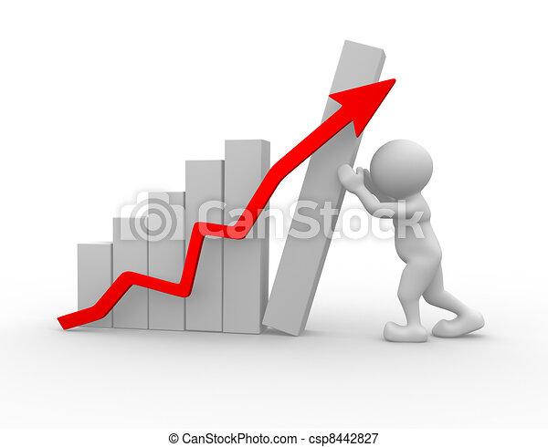 Un concepto de crecimiento - csp8442827