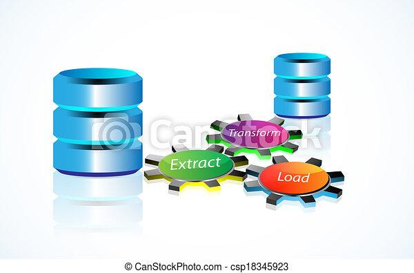 concepto, datos, encerrar - csp18345923