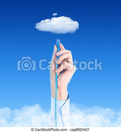 concepto, de conexión, nube - csp8924421