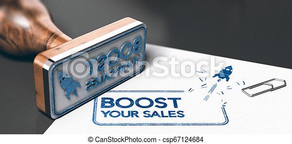 Negocios o concepto de marketing, aumenta tus ventas - csp67124684