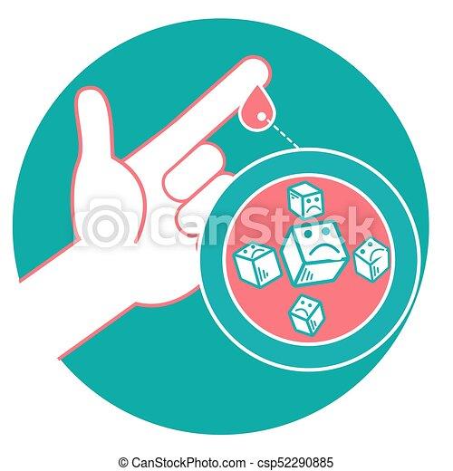medición de sangre para la diabetes