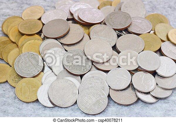 concepto, dinero del ahorro, crecer, moneda, pila - csp40078211