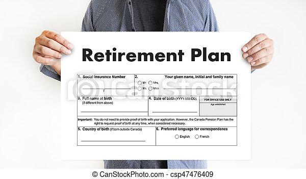 Tiempo de jubilación para ahorrar dinero para el concepto de jubilación - csp47476409