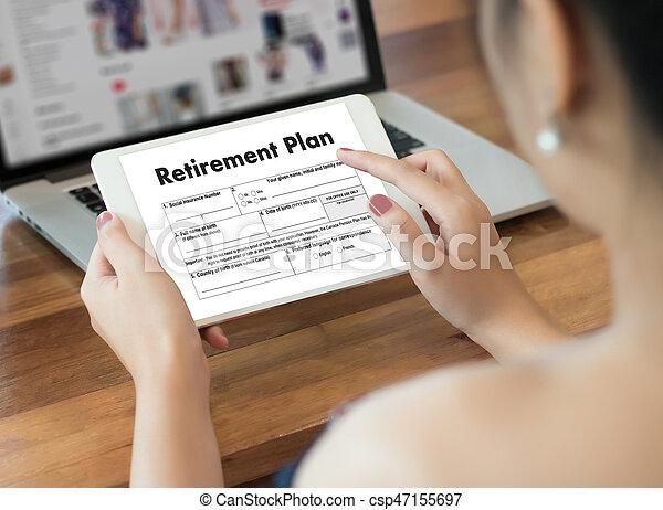 Tiempo de jubilación para ahorrar dinero para el concepto de jubilación - csp47155697