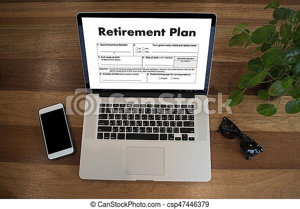 Tiempo de jubilación para ahorrar dinero para el concepto de jubilación - csp47446379