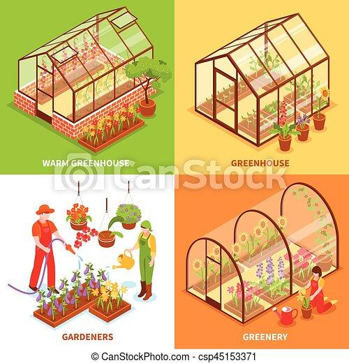 Concepto dise o determinado invernadero vector verdor Diseno de invernaderos pdf