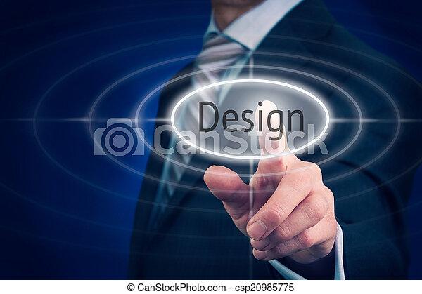 concepto, diseño - csp20985775