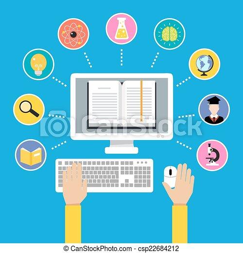 El concepto de educación online - csp22684212