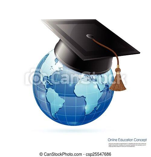 El concepto de educación online - csp25547686