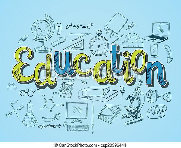 concepto, educación, icono - csp20396444