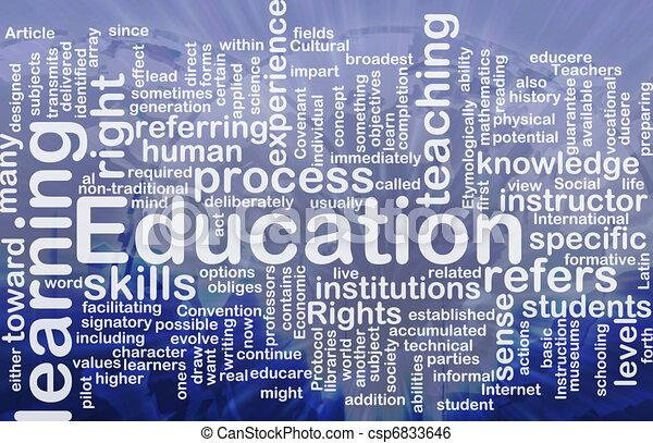 concepto, educación, plano de fondo - csp6833646