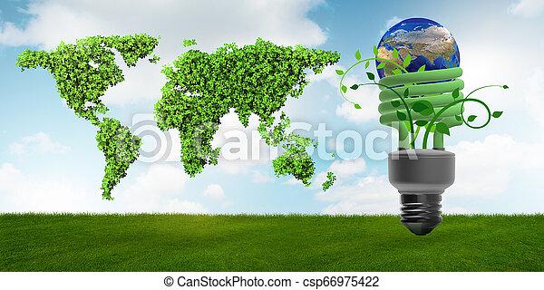 Concepto de eficiencia energizante - csp66975422