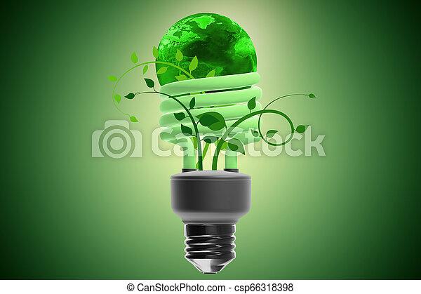 Concepto de eficiencia energizante - csp66318398