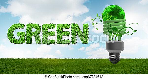 Concepto de eficiencia energizante - csp67734612