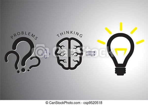El concepto de solución problemática: resolverlo usando el cerebro - csp9520518