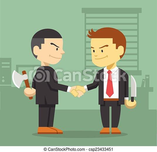 El concepto de competencia de negocios - csp23433451