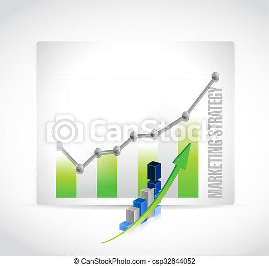El concepto de la estrategia de mercadotecnia de signos gráficos - csp32844052