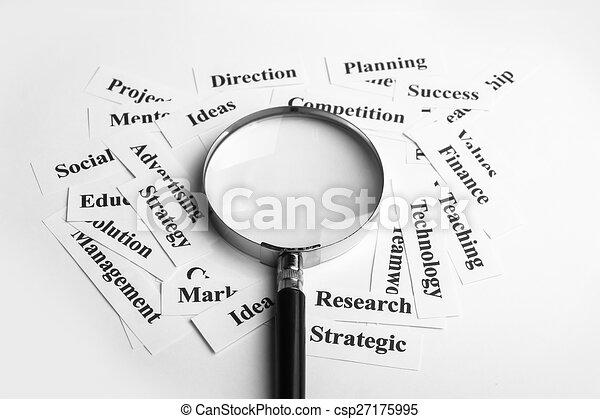El concepto de visión de negocios - csp27175995
