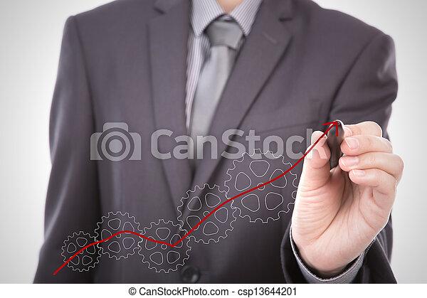 El hombre de negocios se prepara para el concepto del éxito - csp13644201