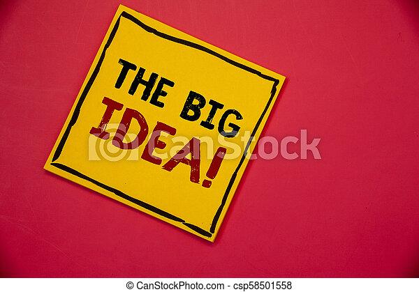 Escribiendo Textos Escribiendo La Gran Idea De Llamada