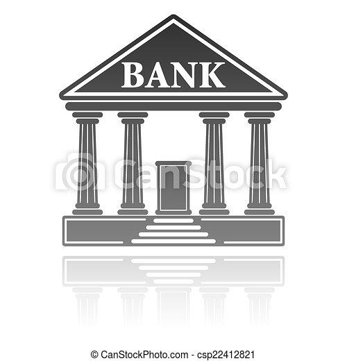 Ilustración de vectores del edificio bancario. Un concepto financiero - csp22412821