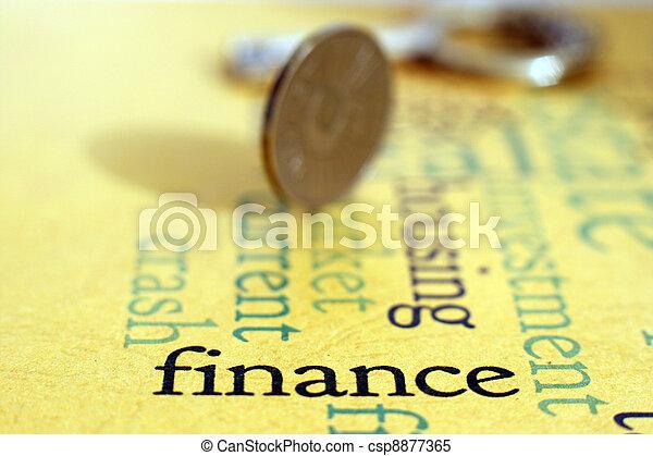 Un concepto financiero - csp8877365