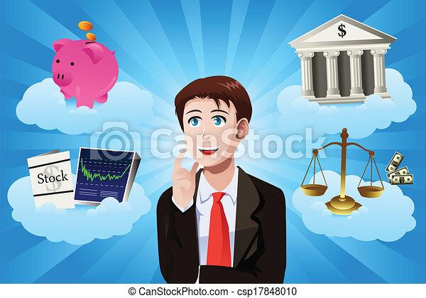 El concepto de negocios y finanzas - csp17848010