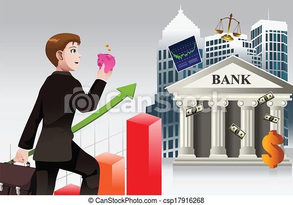 El concepto de negocios y finanzas - csp17916268