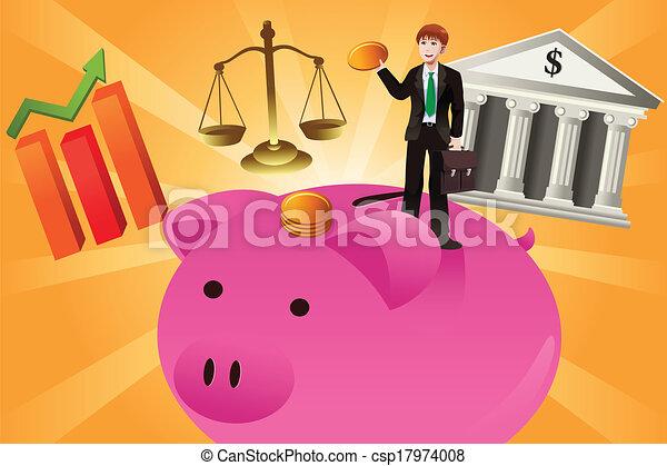 El concepto de negocios y finanzas - csp17974008
