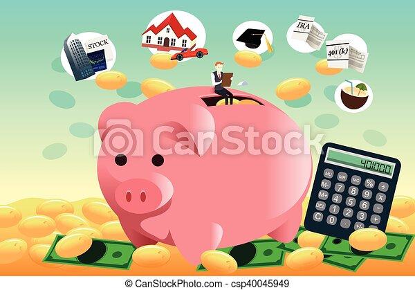 El futuro concepto de planificación financiera - csp40045949
