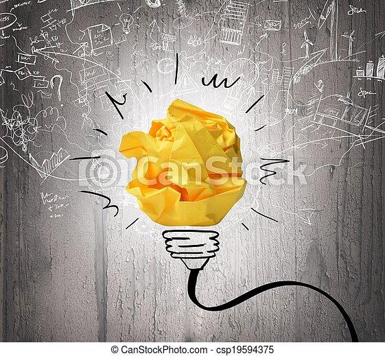 Idea e innovación - csp19594375