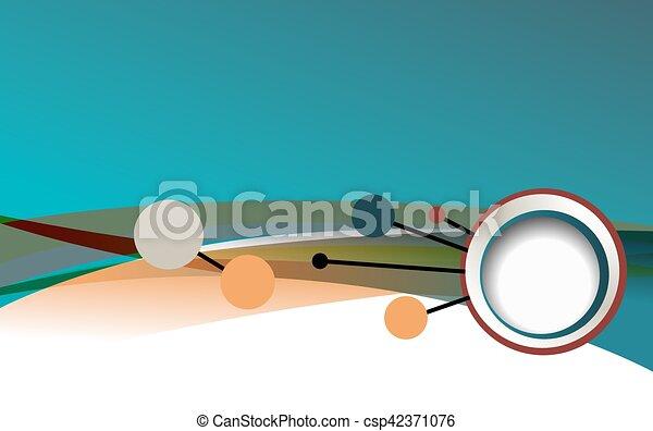 Diseño de concepto de fondo para folletos o folletos, ilustración abstracta del vector. Círculo con Wawes - csp42371076