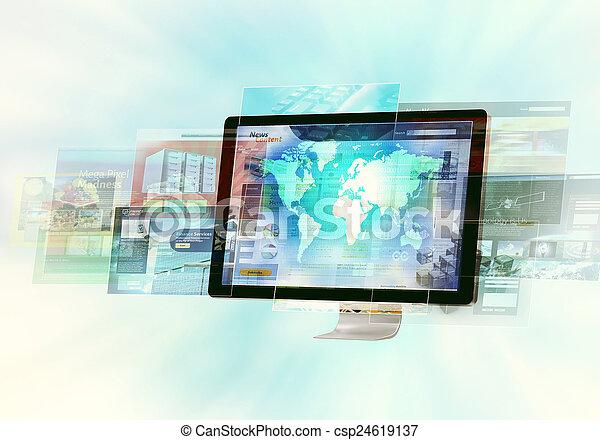 concepto, internet - csp24619137