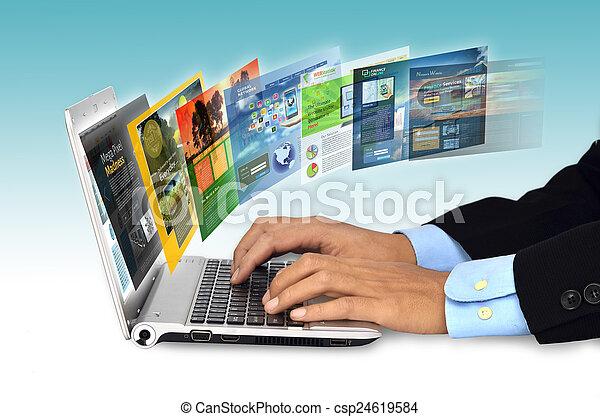 concepto, internet - csp24619584