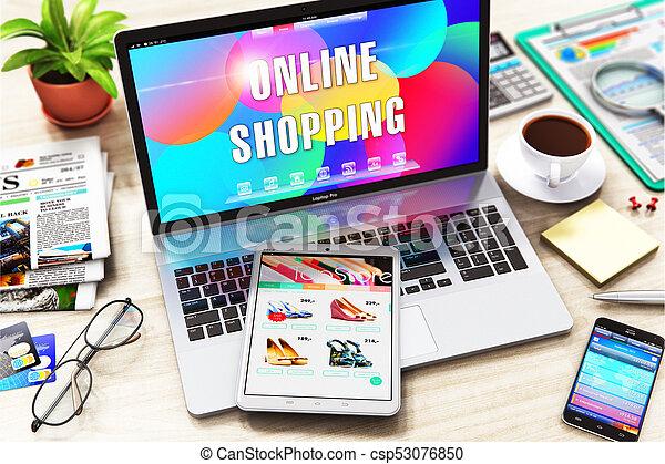 El concepto de compra online - csp53076850