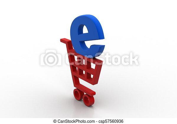 El concepto de compra online - csp57560936