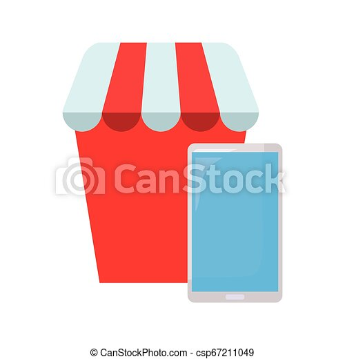 El concepto de compra online - csp67211049