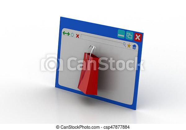 El concepto de compra online - csp47877884