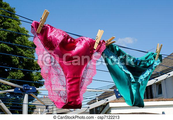 concepto, línea que se lava, seda, lesbiana, bragas - csp7122213