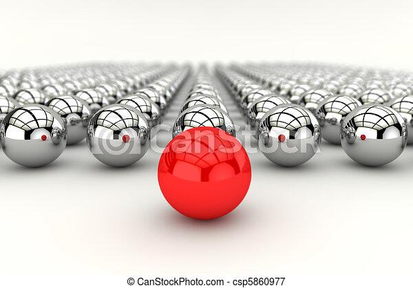 Concepto de liderazgo en 3D - csp5860977