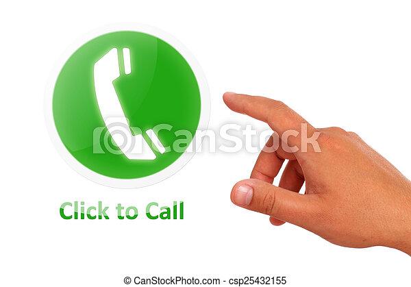 Click para llamar concepto - csp25432155