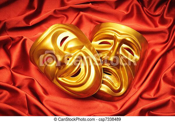 concepto, máscaras, teatro - csp7338489