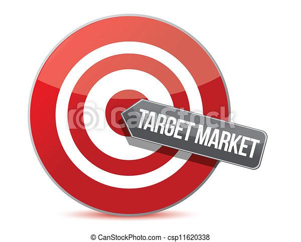 El concepto del mercado objetivo - csp11620338