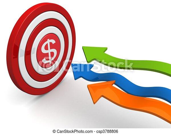 Objetivo financiero y concepto de objetivo - csp3788806