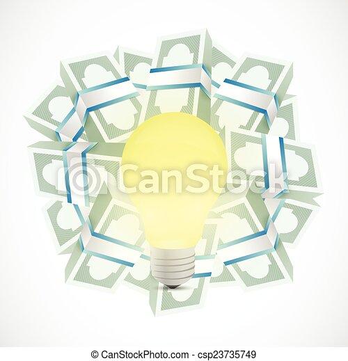 Ideas monetarias ilustraciones conceptuales - csp23735749