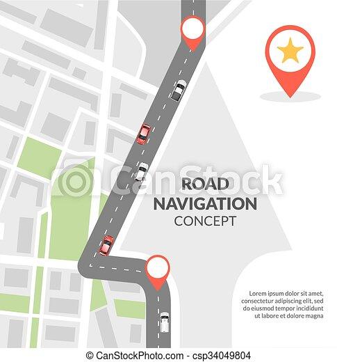 El concepto de navegación de carretera - csp34049804