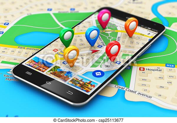 El concepto de navegación GPS - csp25113677