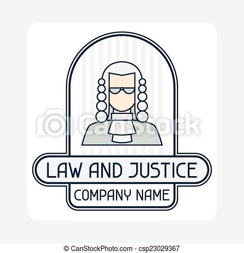 El emblema del concepto de la empresa de derecho y justicia. - csp23029367
