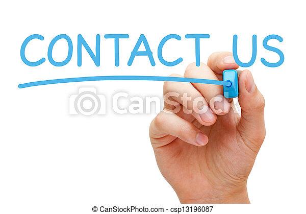 Contáctanos con el concepto - csp13196087